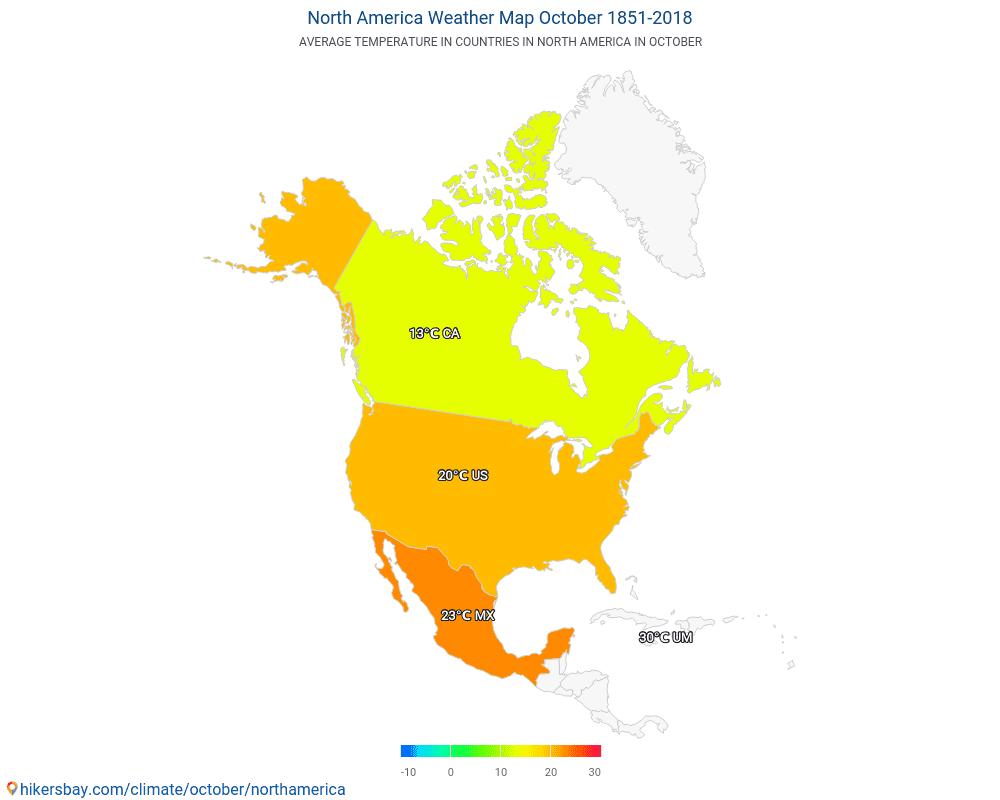 North America - Weather in October in North America 2019