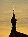 bydgoszcz, cathedral, sunset