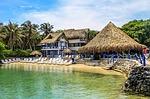 bungalow, lagune, beach