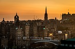 edinburgh, scotland, sunset