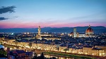 florence, skyline, sunset
