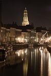 groningen, church, canal