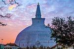 stupa, sunset, asia