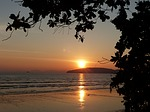 sunset, ao nang beach, krabi