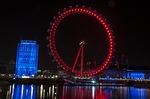 london eye, night, london