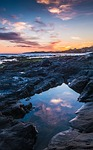 sunset, beach, costa
