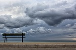 bench, sea, seaside