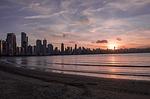 beach, city, water
