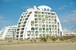modern architecture, france, beach
