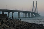 bandra-worli sea link, suspension bridge, rajiv gandhi sea link