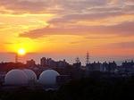 japan, osaka, sunset
