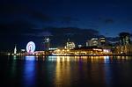 japan, osaka, osaka night view