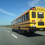 school bus, canada, highway