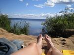 finnish, man, summer vacation