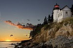 lighthouse, bar harbour, maine