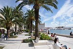 croatia, split, the promenade