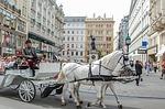 cab, cart, horses
