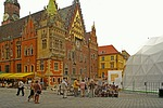 town hall, wrocław, the city centre