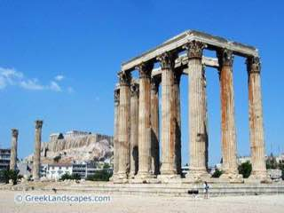 Temple of Olympian Zeus, Athens, greece , aegina