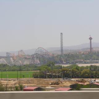 Six Flags Magic Mountain, usa , losangeles