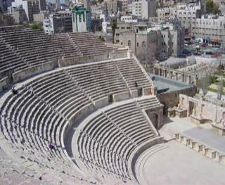 Roman theater, jordan , madaba
