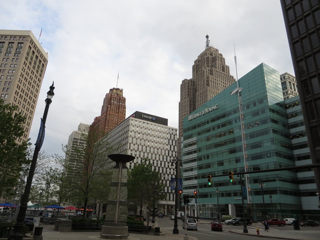 Image of Campus Martius Fountain.