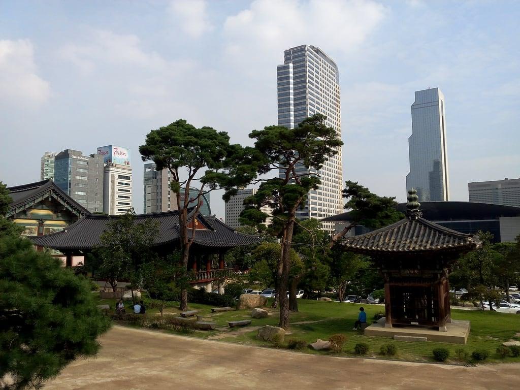 Εικόνα από Bongeunsa. temple korea seoul tempel gangnam