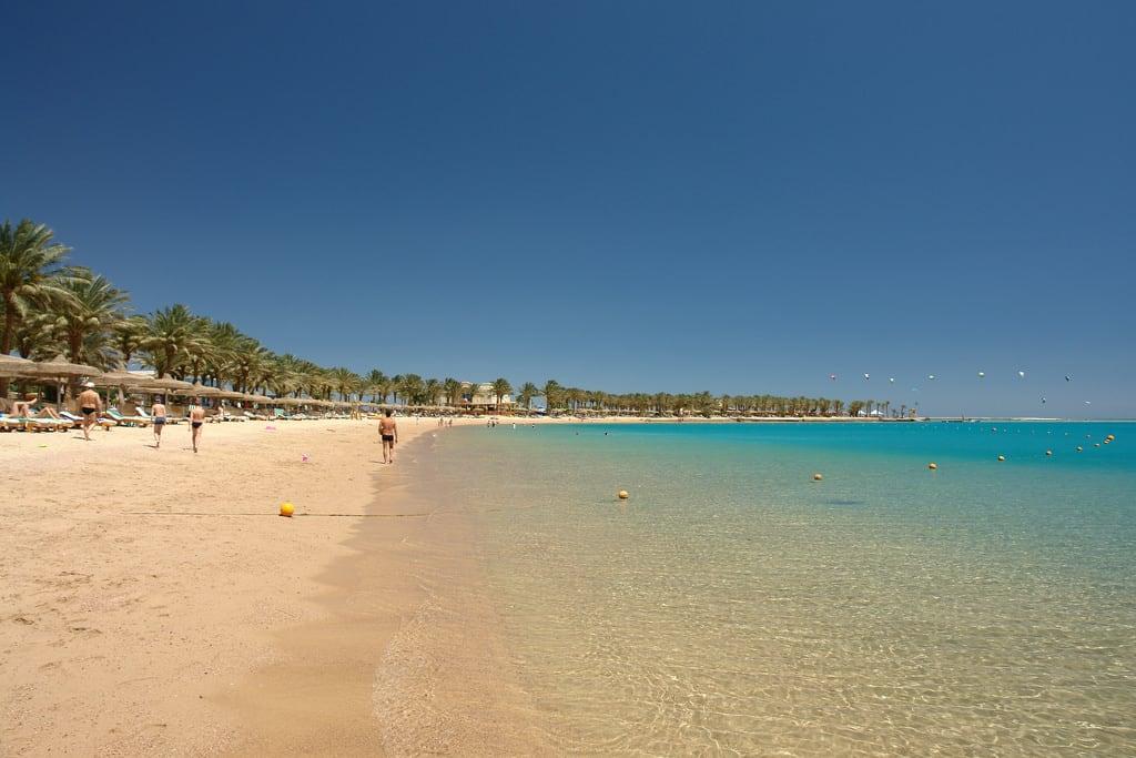 Billede af Beach Bar Palm Royale Strand med en længde på 428 meter.