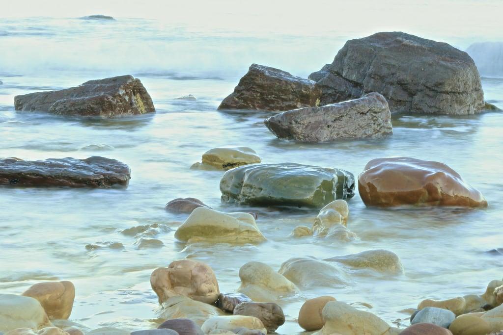 Obraz Plaża o długości 642 m. ocean beach coast seaside australia shore adelaide
