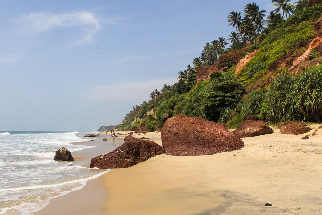 Billede af Varkala South Beach. sea india beach kerala varkala arabiansea canon60d canonefs1585mmf3556isusm