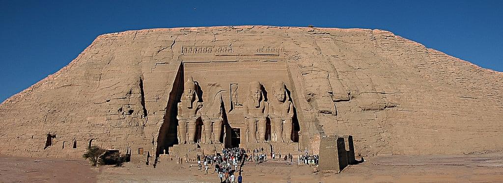 Obraz Abu Simbel. ralfstamm ägypten 2004 aswangovernorate eg