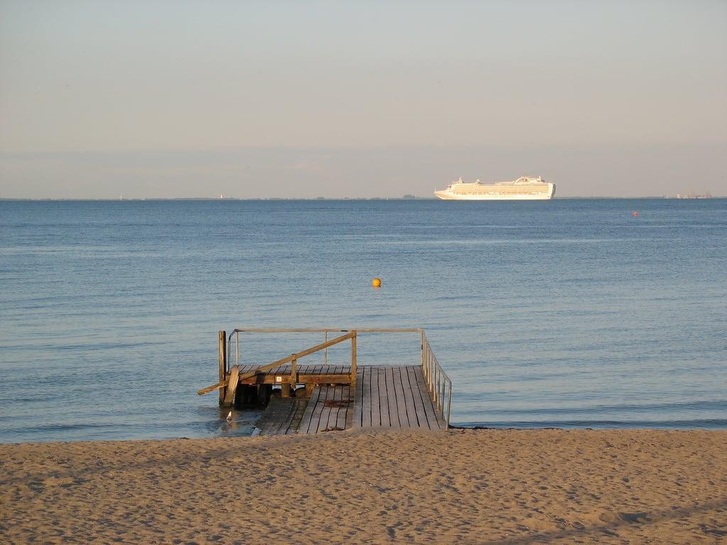 Image of Bellevue Strand. cruise beach water pier sand ship bellevue