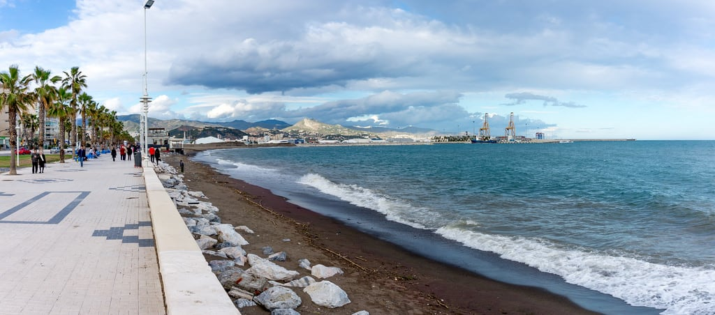 Kuva Playa de San Andrés. malaga andalucia spain sea mediterranean panorama