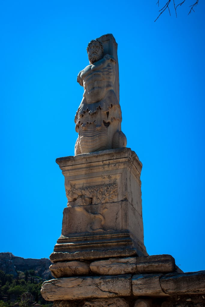 Image of Odeon of Agrippa. 2016 agora agrippa ancientagora athens greece lightroom odeon odeonofagrippa statue statues athina attica
