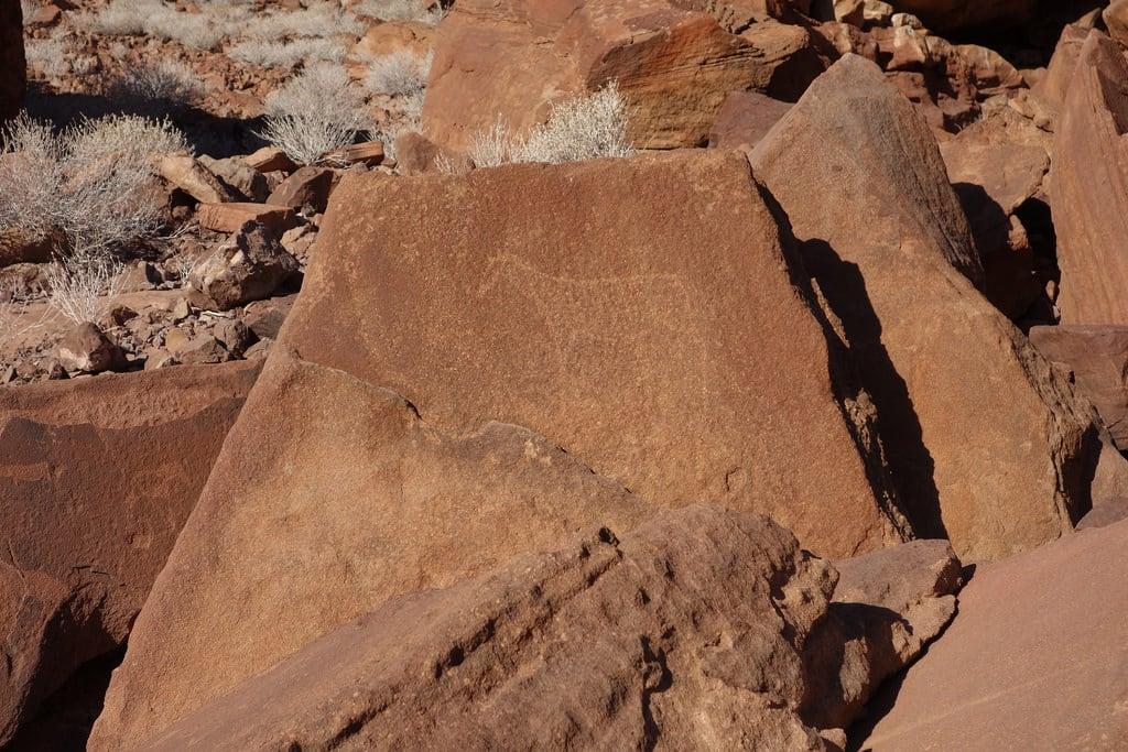 Изображение на Twyfelfontein. namibia africa twyfelfontein engravings