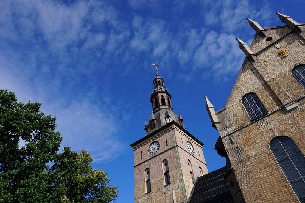 Image of Oslo Cathedral. oslo norway northern europe summer outdoors city buildings urban domkirke cathedral