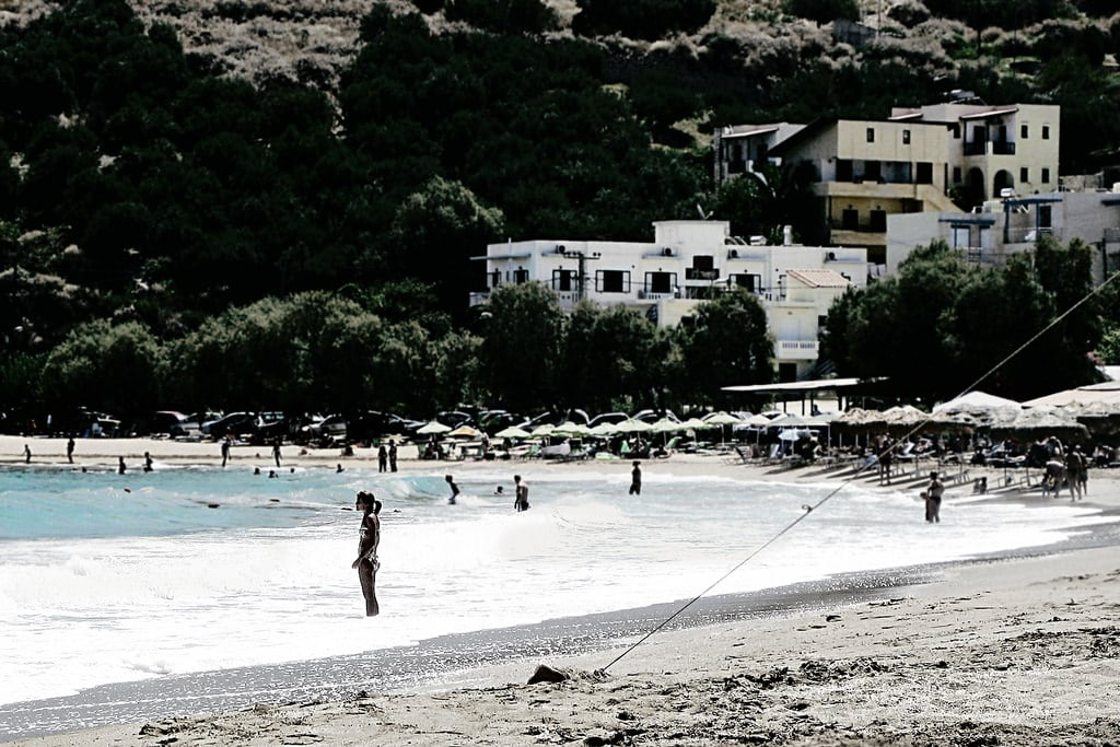 Bild von Kalyves. greece beach summer seacoast crete kalives kalyves