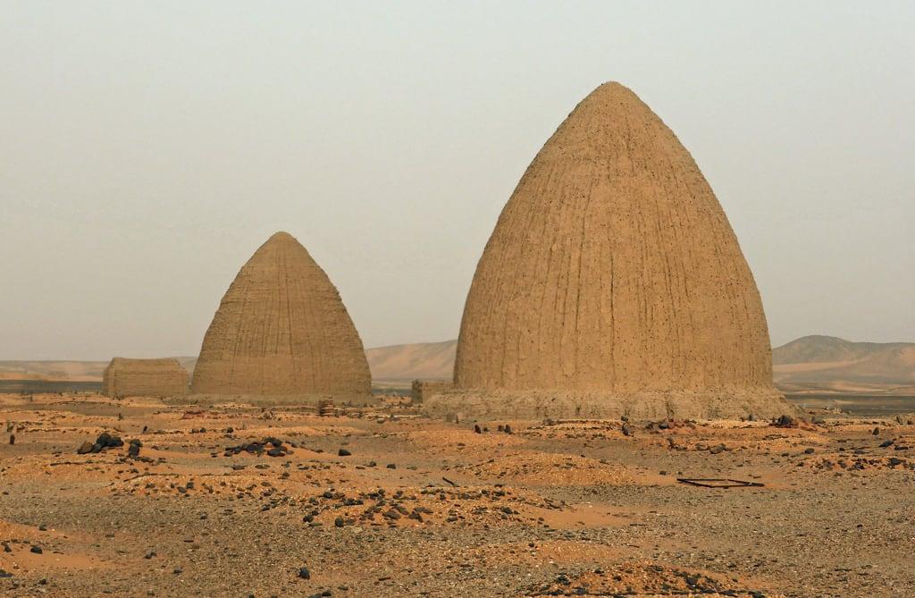 Image of Old Dongola. sudan northernsudan olddongola dongola beehive sufi tombs