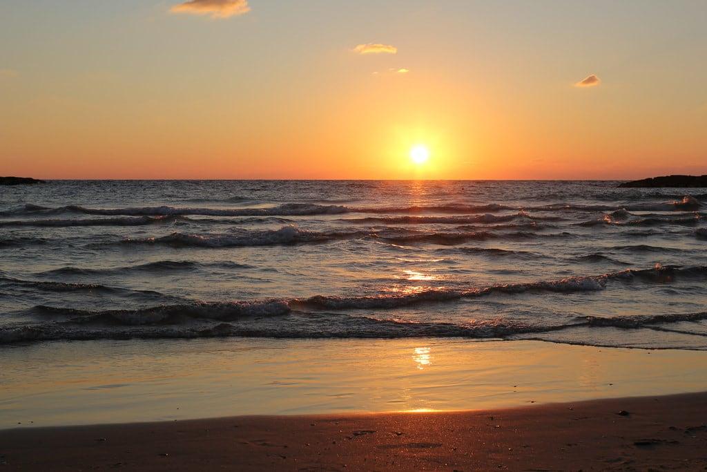 Geula Beach (חוף גאולה) Geula Beach közelében Tel Aviv képe. telaviv israel isr sunset