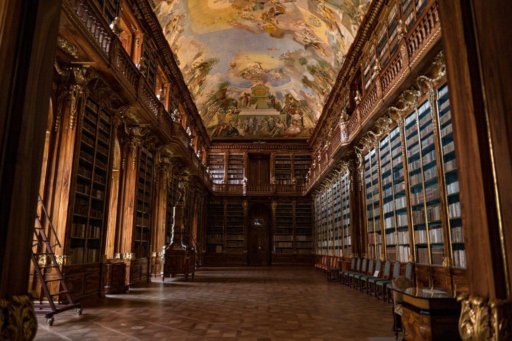 Image of Strahov Monastery. monastery painting mural books prague prag praga praha cz czechrepublic samsung samsungcamera czechia library beautifullibrary