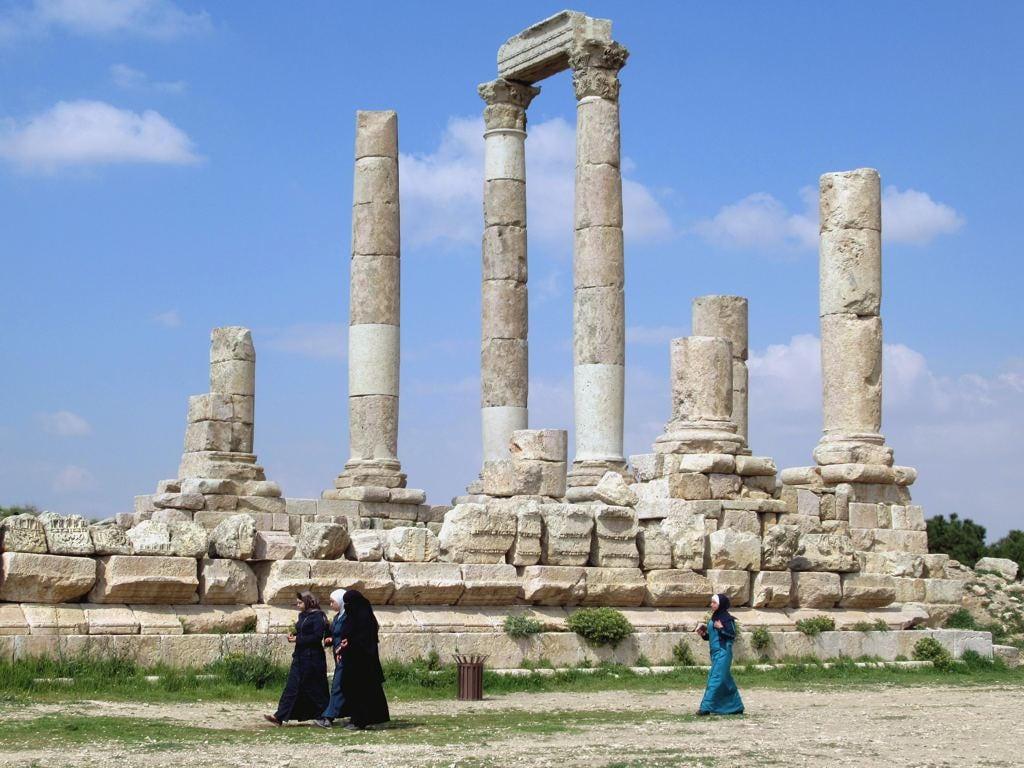 Bild von Herkulestempel. temple hercules citadel jabalalqala amman jordan