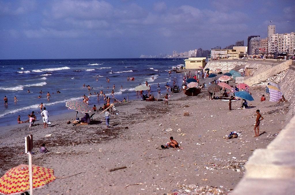 Image of Anfoushi Beach (شاطئ الأنفوشي) El Queiry Beach. alexandria egypt