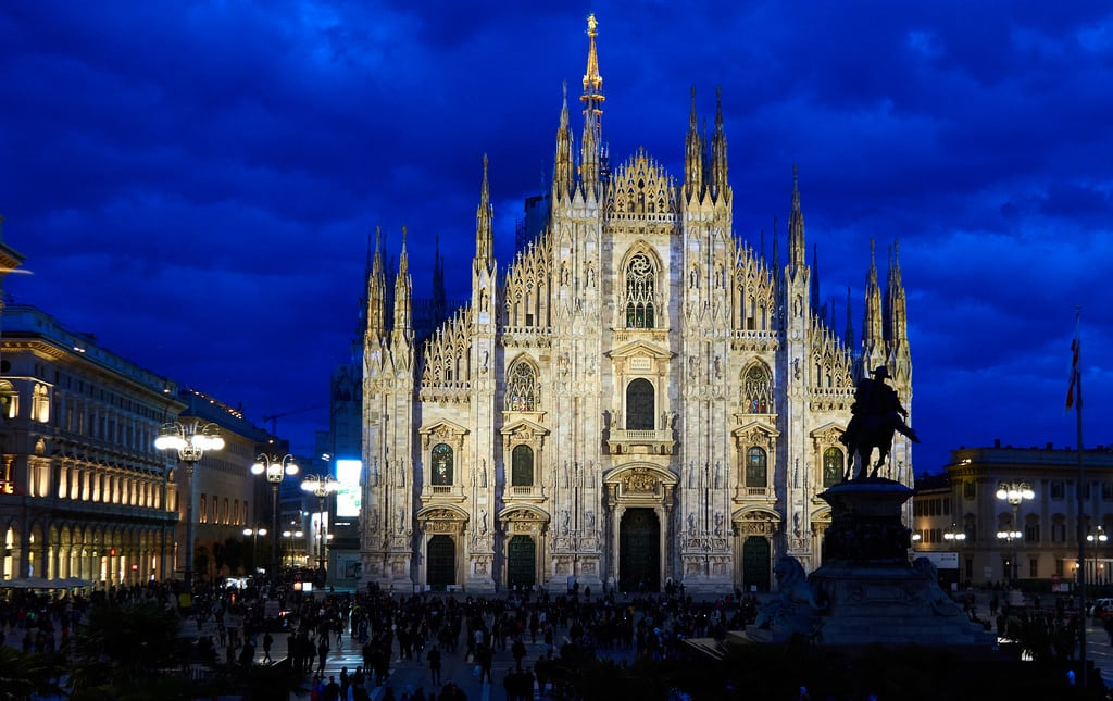 Imagine de Milan Cathedral. mi10224 duomodimilano milancathedral duomo milan milano italy nightphotography night