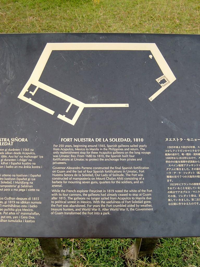 Изображение Fort Soledad. guam umatac fortsoledad