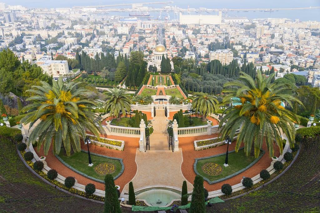 Bahá'í gardens की छवि. haifa haifadistrict israel il