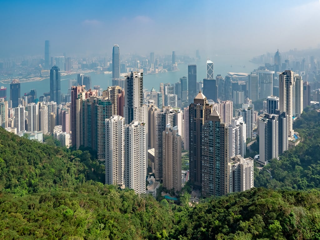 Imagem de The Peak. asia hongkong abroad architecture buildings china city cityscape fareast holiday holiday2018asia outdoors skyline vacation