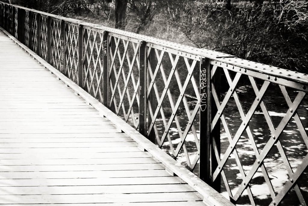 Image of H.C. Ørsted. bridge garden rail parken hcørsted hc¿rsted