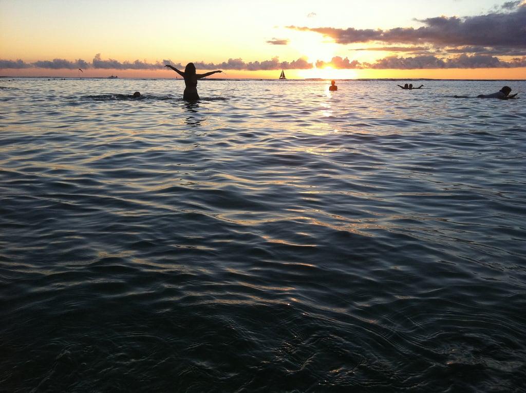 Bild av Kaimana beach nära Honolulu.