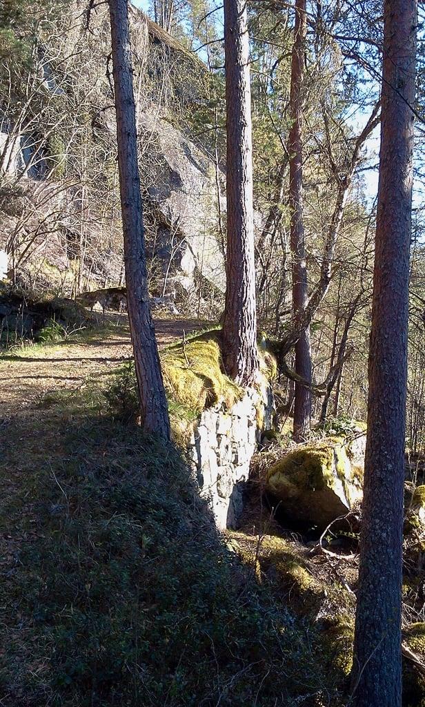 Image of Kongevegen. spring hiking embankment sogndal kongevegen årøy