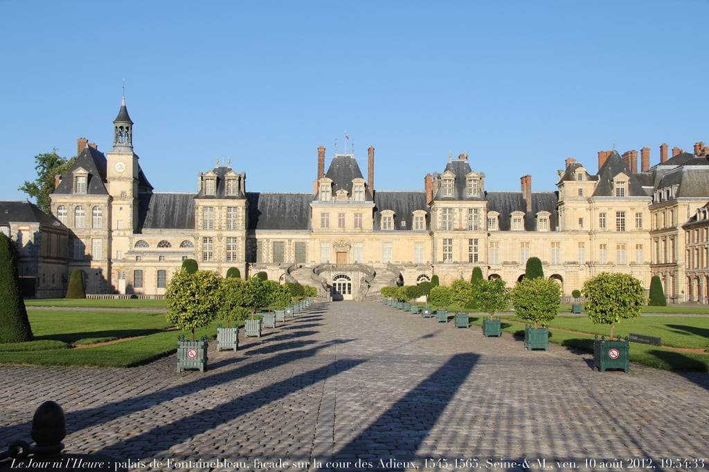 Image of Château de Fontainebleau. architecture courtyard renaissance cour napoléon henriii renaudcamus charlesix
